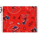 Cotton Jersey Fabric Miraculous - Lady Bug red Digital...